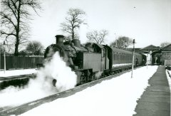 Pontefract Steam in the snow No.2