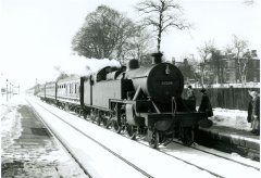 Pontefract Steam in the snow No.3