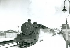 Pontefract Steam in the snow No.4