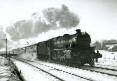 Pontefract Steam in the snow No.5