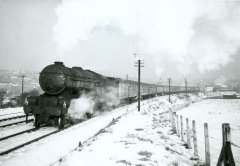 Pontefract Steam in the snow No.6