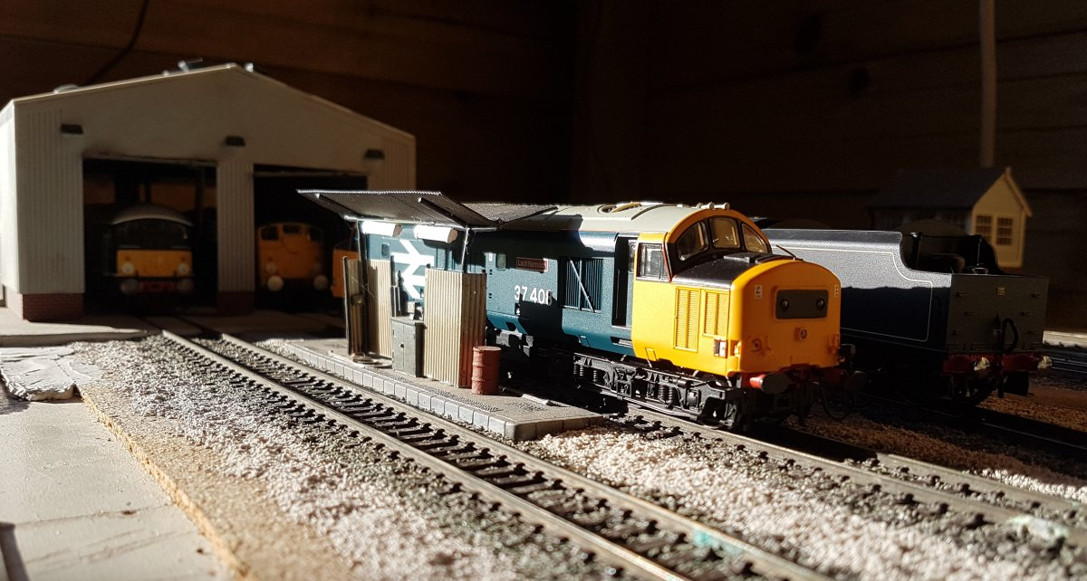 37408 takes on fuel
