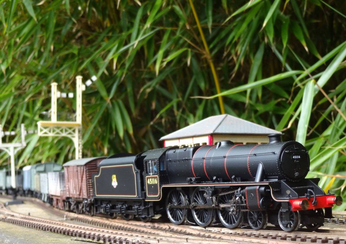Black 5 with goods train at Throstlebeck Sidings