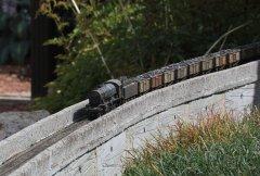 90630 crosses Low Shott viaduct