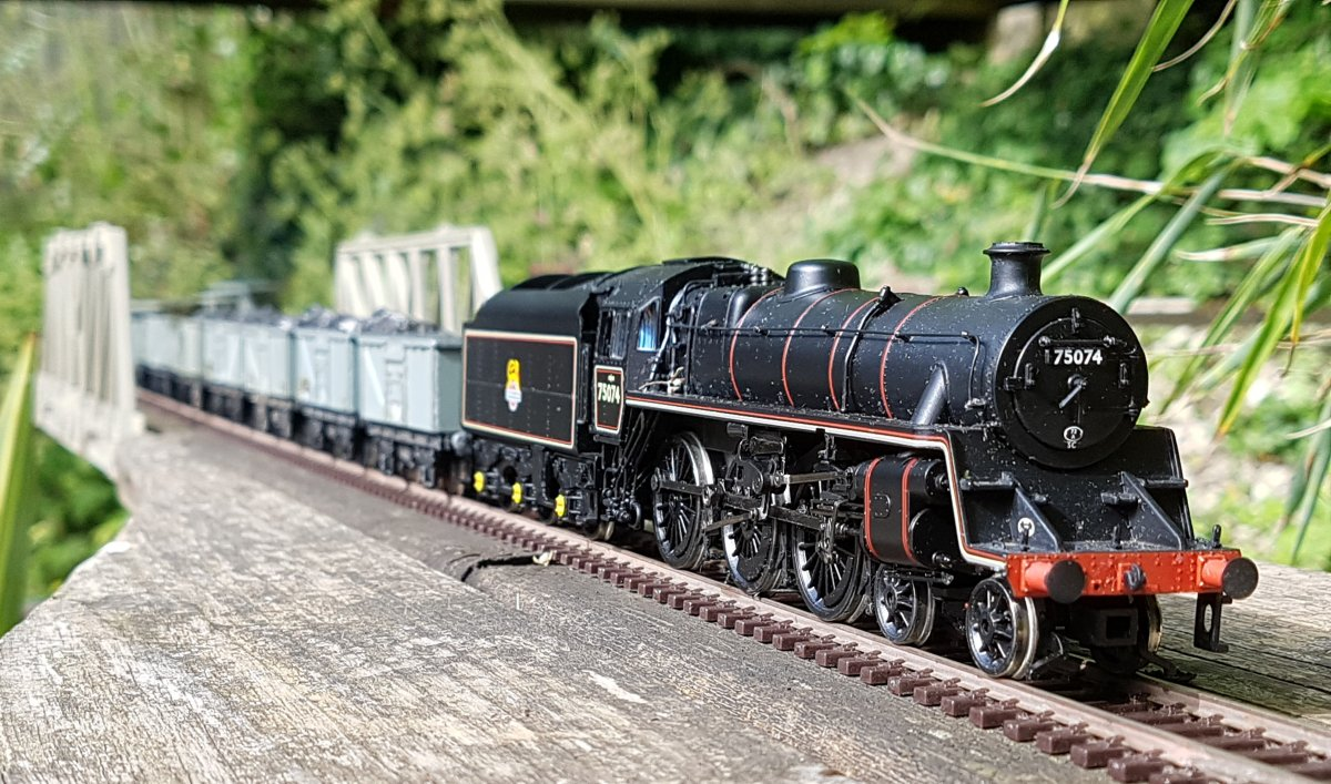 75074 on coal train, Bamboo Curtain Straight
