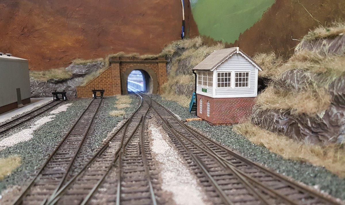Signal Box and tunnel at Shieling Bridge