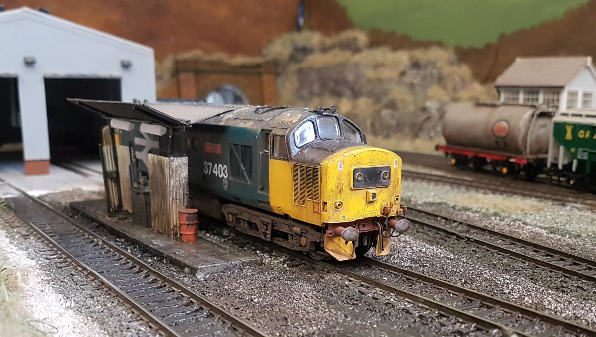 37403 Isle of Mull on shed at Shieling Bridge